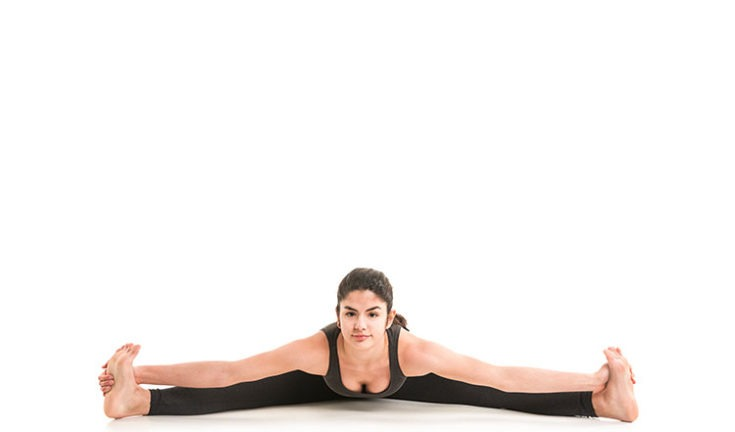 wide seated forward bend pose - upavistha konasana