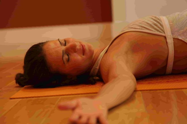 Woman doing Relaxation Pose