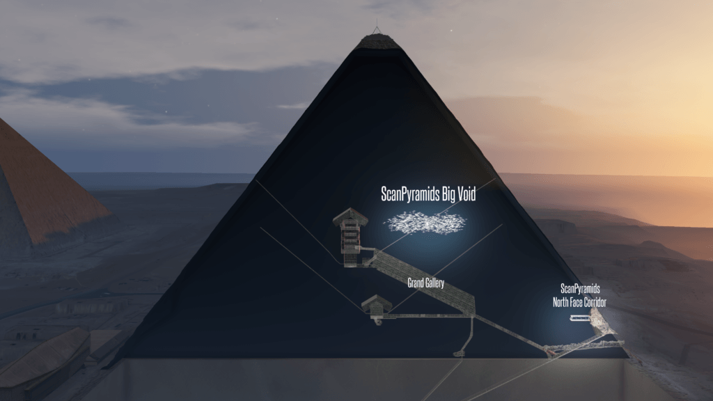 void discovered great pyramid