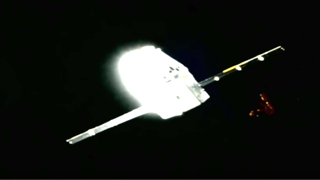 Mysterious Triangular Object Floats Past SpaceX Dragon Capsule | Gaia