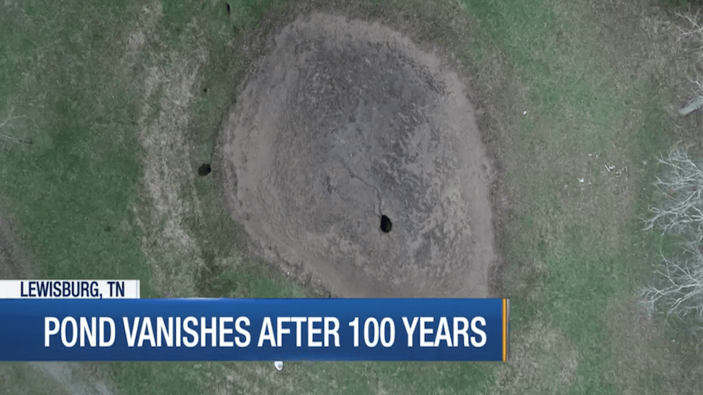 Mysterious Object Falls from Sky, Drains 100-Year-Old Pond