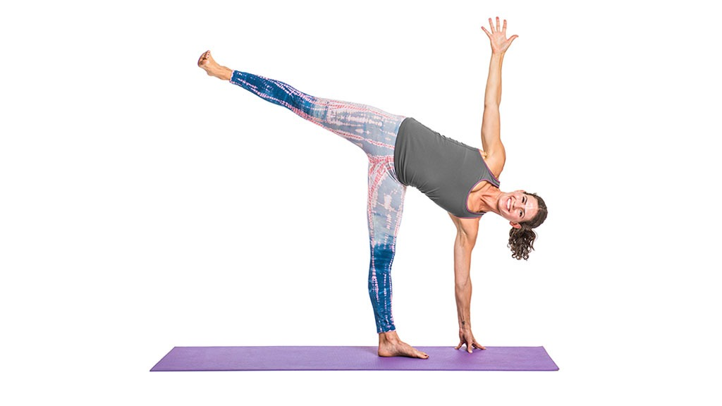 OLD Triangle Pose: Utthita Trikonasana
