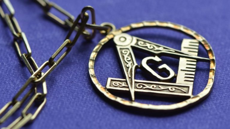 Freemason necklace symbol