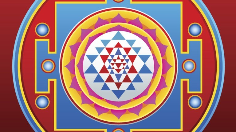 Vector illustration of Sri Yantra mandala