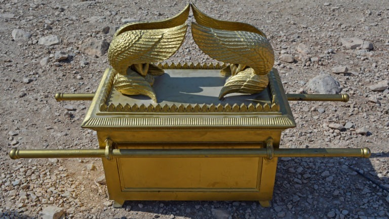 The Ark of the Covenant in the wilderness