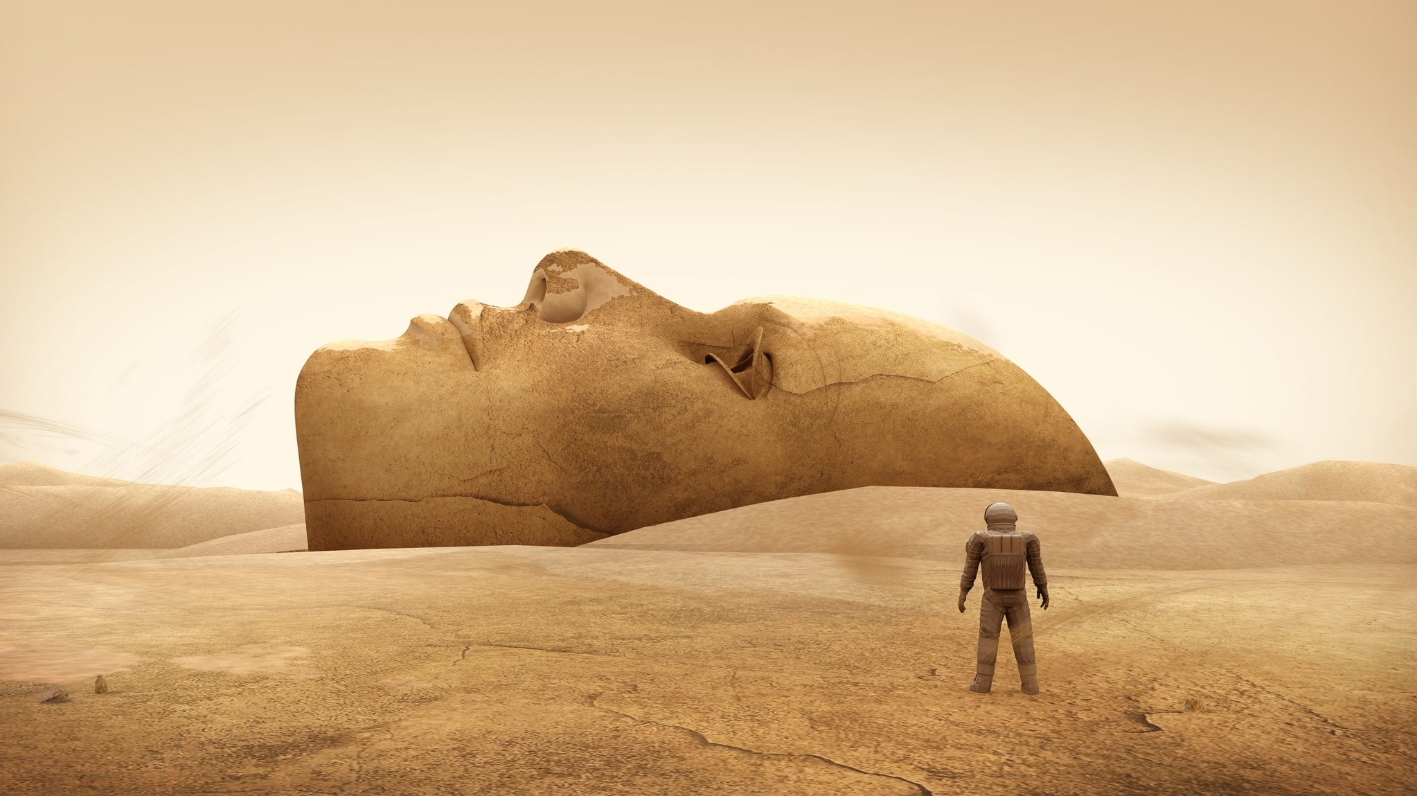 Ancient Gaia Statue do these 7 strange features show life on mars? | gaia