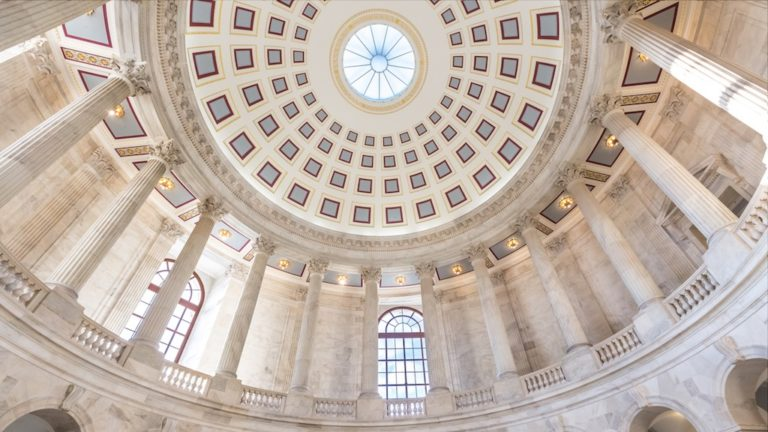 U.S. Senate Russell Office Building Rotunda in Washington DC