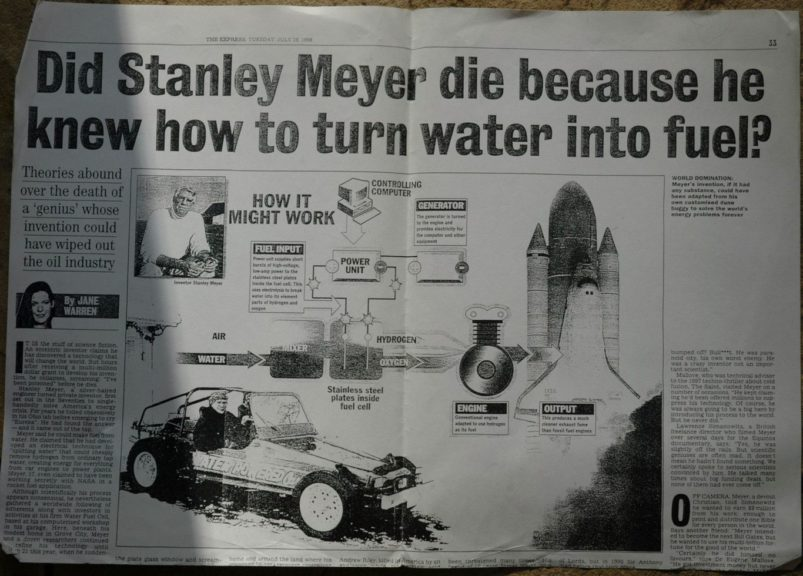 Stan Meyer Water Powered Car Inventor